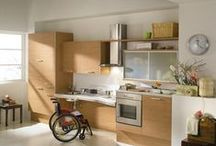 Utility System - Kitchens / The first kitchen-element system offering maximum accessibility. UTILITY is an innovative system of elements that transforms a normal kitchen into a fully usable and accessible space even for the disabled, the physically handicapped and elderly persons with reduced mobility.