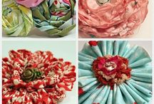 fabric flowers / by Kim Shook