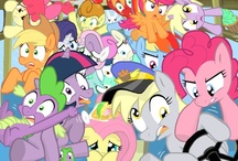 Ponies / My Little Pony artwork from around the web. And the occasional still from an episode. No smut, occasional innuendo)