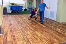 Rustic Concrete Wood / Concrete that looks like wood!  Check-out these cool pictures of decorative concrete faux wood projects.  Learn how to do this concrete finish:  http://theconcreteprotector.com/product-systems-2/rustic-concrete-wood/