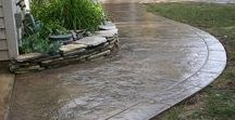 Super Sweet Stamped Concrete / Stamped concrete or imprinted concrete is a popular way to have your new concrete slab look like brick, stone, slate and more.  Check-out & follow our collection!