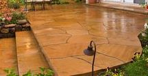 Grand Flagstone Concrete Makeover / Concrete transformed into the look of large flagstone!