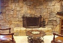Vertical Decorative Concrete - Stone and Rock Walls / Your walls don't have to be plain! Decorative concrete on vertical surfaces can be made to look and feel like real rock and stone.