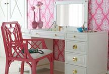 girls bedrooms and sitting room. / bedroom ideas.  / by Julie Meeks