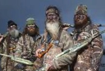 """""""Duck Dynasty"""" / """"A series on A&E that shows the lives of the Robertson family, a Louisiana clan who became wealthy from their family-operated duck call business.  All of the members of the Robertson family, as well as series regulars John Godwin and Justin Martin, are active members of the White's Ferry Road Church of Christ.    Friends and relatives estimate that Phil Robertson has baptized more than 300 people in the river near his home, the Ouachita River."""" / by Debbie Coleman"""