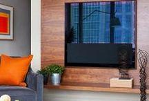 Решения — тумбы под телевизор / Когда мы смотрим журнали о дизайне интерьеров, кажется, что телевизоры специально прячут для фото в идеальных домах и квартирах…