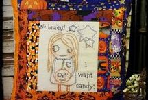 Halloween Fun / Halloween decor, diy, projects, patterns, displays, make dos, pincushions, vintage flair, & signs