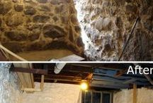 Basement Waterproofing Tips / Waterproof your basement & stop water forever with these ideas.  Leaks, moisture, mold and more completely eliminated.