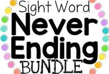 Sight Word Resources and Ideas / Sight words: Sight word games, sight word lists, sight word worksheets, word searches, Dolch sight words, Fry's sight words, Word their Way, learn to read sight words, free sight word worksheets, downloads, sight word fluency, sight word freebies, never ending sight words