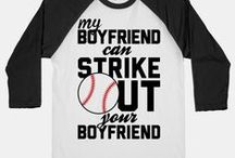 Baseball Girlfriend / Baseball Girlfriend tshirts and number one fan ideas / by Sarah Bowler