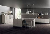 MaterialSelection_I / Scavolini puts the spotlight on materials, with eight new 22mm thick decorative melamines for doors, six of which with a vertical wood grain effect and two with a mortar effect. To finish the models of the Mood and LiberaMente lines with personality. / by Scavolini