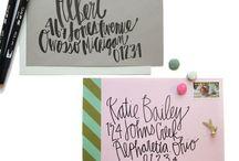 design: invitations, stationery, etc.