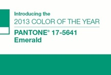 Emerald - 2013 Color of the Year / Celebrate and enjoy the color of the year...Emerald!