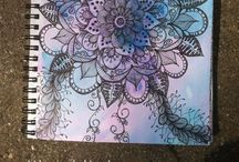 Art : Doodle Inspiration / This board focuses on doodles (ink, pencil, watercolor, and/or paint can be involved), I have another board Journaling Inspiration which can include all forms of mixed media and mediums.  / by KitsKorner.Com