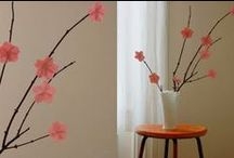 making a cherry blossom branch...