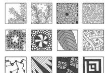 Art : Doodle Pattern Samplers / Groups of patterns in a sampler sheet.