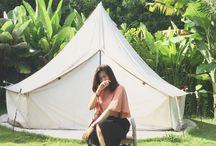 sunday rain tent villa