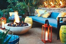 Colorful Outdoor Spaces / We don't all have green thumbs. That's why I have put together this collection of colorful outdoor spaces that don't depend on plants for their personality.  / by Kristian Gallagher