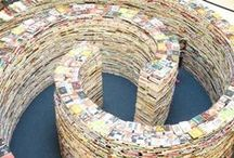 Books as Art / Artwork devoted to the love of books, or created out of books.