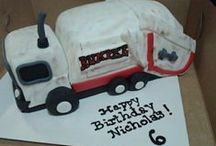 Birthday Party Ideas / Trash Bash and Recycling Birthday Parties! Enjoy these great ideas for invitations, decorations, cakes, gifts and refreshments for your garbage truck fan!
