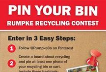 PIN YOUR BIN CONTEST / To celebrate America Recycles Day (Nov. 15) share a photo of your recycling bin for a chance to win a Rumpke prize pack. Follow the 3 easy steps to enter the contest.  #PinYourBin       #Rumpke         #AmericaRecyclesDay  / by Rumpke Waste & Recycling