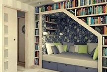 Bookshelves, Libraries, and Lovely Places