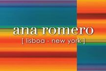 ANA ROMERO Signature Prints / Prints by designer Ana Romero for her name sake brand Ana Romero Collection. Ana Romero Collection is a designer lifestyle brand inspired by optical art and the complexity of the color spectrum.