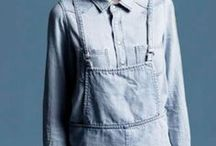 . denim . / denim n.:  A hard wearing cotton twill fabric, typically blue and used for jeans and other clothing.