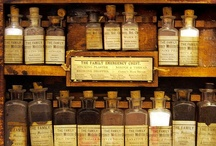 """Apothecary / """"When you have a garden or open space full of herbs, there is nothing better than wandering around with your gathering basket and a pair of scissors in the cool of the evening collecting flowers from different plants to create a unique elixir."""" -Sarah Head"""