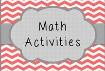 Math Activities / Pin your favorite math activities!  Please limit yourself to 2 or 3 pins per day.   If you would like to join this board, make sure you follow me and send me a message on Pinterest!  Feel free to invite other pinners. Happy Pinning!