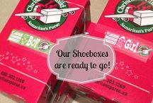 Christmas Shoeboxes / Whether you are putting together shoeboxes for local charities or to send overseas it's a super fun way to feel good and get the whole family involved in giving back. My sons school participates in the shoebox program every year, it's our favorite outreach program to date.
