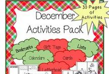 Holiday Activities / Holiday activities for students to enjoy all December long! Please no more than 3 pins in a row!  If you would like to join this board, make sure you follow me and send me a message on Pinterest!  Happy Pinning!
