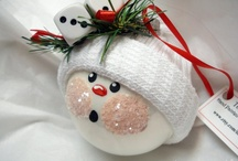 CRAFTS | Santas & Snowmen / Clay projects for Christmastime