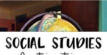 Social Studies Activities and Ideas / Tons of great social studies activities and ideas for 3rd grade. Geography, economy concepts, history activities for elementary, and more!