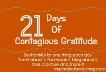 Thanksgiving & Gratitude / Expressing gratitude and ideas, activities, and books to celebrate Thanksgiving