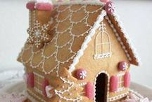 CRAFTS | Gingerbread Houses / Real & faux gingerbread houses
