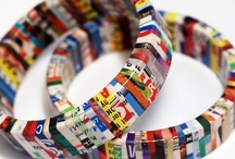 CRAFTS | Recycle TP Rolls, Magazines, etc / Getting creative with recycled paper products & found items