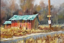Artist: Tom Brown / studies & examples for class on color mixing