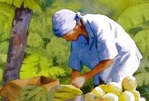 ART | Watercolor basics / Demos, tutorials, exercises & tips for watercolor art