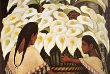 Diego Rivera / Diego María de la Concepción Juan Nepomuceno Estanislao de la Rivera y Barrientos Acosta y Rodríguez, known as Diego Rivera (December 8, 1886 – November 24, 1957) was a prominent Mexican painter (a famous muralist) and a husband of Frida Kahlo. An atheist whose ancestors were forced to convert from Judaism to Catholicism. His work depicts a man and his/her work, destination, life.