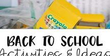Back to School Activities and Ideas / Tons of fun back to school activities for 1st, 2nd, and 3rd grade.  Welcome packs for parents, classroom set up, etc.