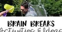 Brain breaks Activities and Ideas / Fun brain breaks videos and ideas for the elementary classroom.