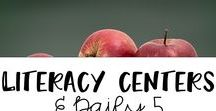 Literacy centers and Daily 5 / Literacy centers activities and organization for elementary.