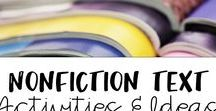 Non Fiction Activities and Ideas / Tons of non fiction activities and resources to teach with informational text.  Many reading strategies for small groups and independent reading time.