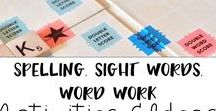 spelling, sight words, and word work / Spelling activities, sigh word games, and word work ideas for elementary.