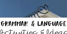 Grammar and Language Activities / Tons of ideas and resources to teach grammar and language skills to elementary students.