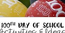 100th day of School Activities / Tons of fun 100th day of school activities and ideas for elementary.