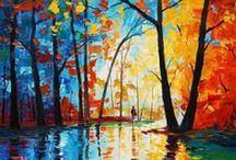 Artist: Leonid & Graham / Leonid Afremov and Graham Gercken, 2 artists painting with vibrant color