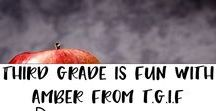 Amber from TGIF resources / Great and engaging resources for 3rd grade by Amber from TGIF. Math centers, brag tags, classroom decor, fractions, grammar, multiplication, division,  reading, science, social studies, writing and more!