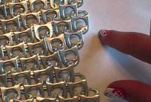 crafts with pop tabs and cans.